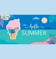 summer time fun concept design creative vector image