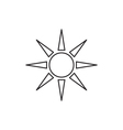 Sun icon outline contour vector image