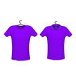 t-shirt and polo violet color vector image
