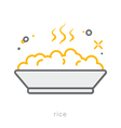 Thin line icons Rice vector image vector image