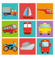 transport logistic set vehicles vector image vector image