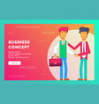 two businessman two persons are shaking hands vector image vector image