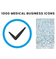 Valid Rounded Icon With Medical Bonus vector image vector image