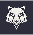 wolf mascot icon vector image vector image