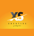 xs x s letter modern logo design with yellow vector image vector image