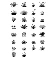 30 sketch plants vector image