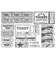 retro tickets set vector image