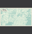 athens greece map in retro style vector image