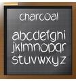 Digital charcoal hand drawn alphabet vector image