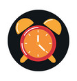 alarm clock time reminder block and flat style vector image