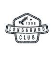 badge of longboard club vector image