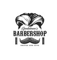 barbershop haircut salon man beard and mustaches vector image