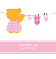 bear hanging clothes vector image vector image