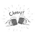 beer emblem vector image vector image