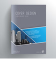 Book cover design template with skyscrapers