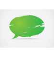 Brush painted speech bubble vector image vector image