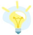 Bulb light idea icon vector image vector image