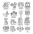 business management line icons pack 35 vector image vector image