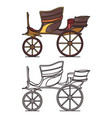 carriage for wedding vintage vehicle for person vector image vector image