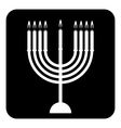 Chanukah symbol button vector image