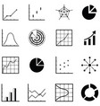chart icon set vector image