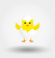 chick in eggshell icon flat vector image