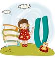 children alphabet letters vector image vector image