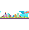 city landscape horizontal day vector image vector image