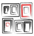 collection grunge frames set elements vector image vector image