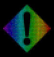 Colored dotted warning icon