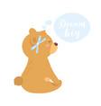 cute teddy bear vector image vector image
