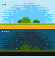 day and night flat vector image