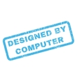 Designed By Computer Rubber Stamp vector image vector image