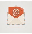Envelope with email sign vector image vector image