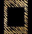 fashionable luxury zebra pattern cover design vector image