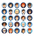 flat business round avatars on color vector image vector image