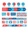 flat mobile infographics template vector image vector image