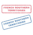 french southern territories textile stamps vector image vector image