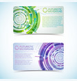 futuristic background banners set vector image vector image