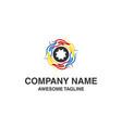 gear hand care logo vector image vector image