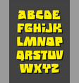 graffiti or comic style alphabet font vector image