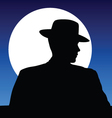 hat and moonlight vector image vector image
