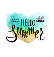 hello summer bright vector image