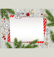 holiday nature card vector image