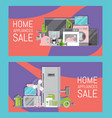 home appliances sale banners flat vector image