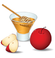 honey and apples vector image vector image