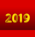 inflated number yellow figures of 2019 new year vector image vector image