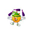 juggling seeds nutmeg cartoon on white background vector image vector image