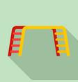 kid amusement bar icon flat style vector image