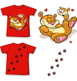 kid shirt with cute bear printed - isolated on vector image vector image